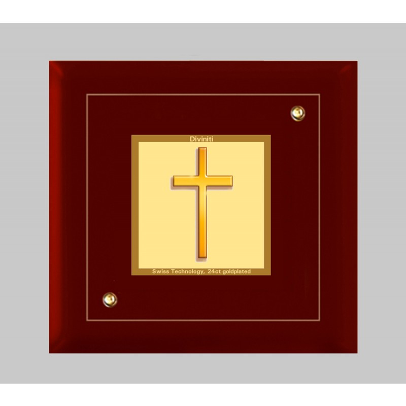 24K GOLD PLATED MDF FRAME SIZE 1A CLASSIC COLOR HOLY CROSS
