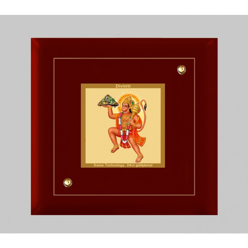MDF FRAME SIZE 1A CLASSIC COLOR SQUARE HANUMAN WITH MOUNTAIN