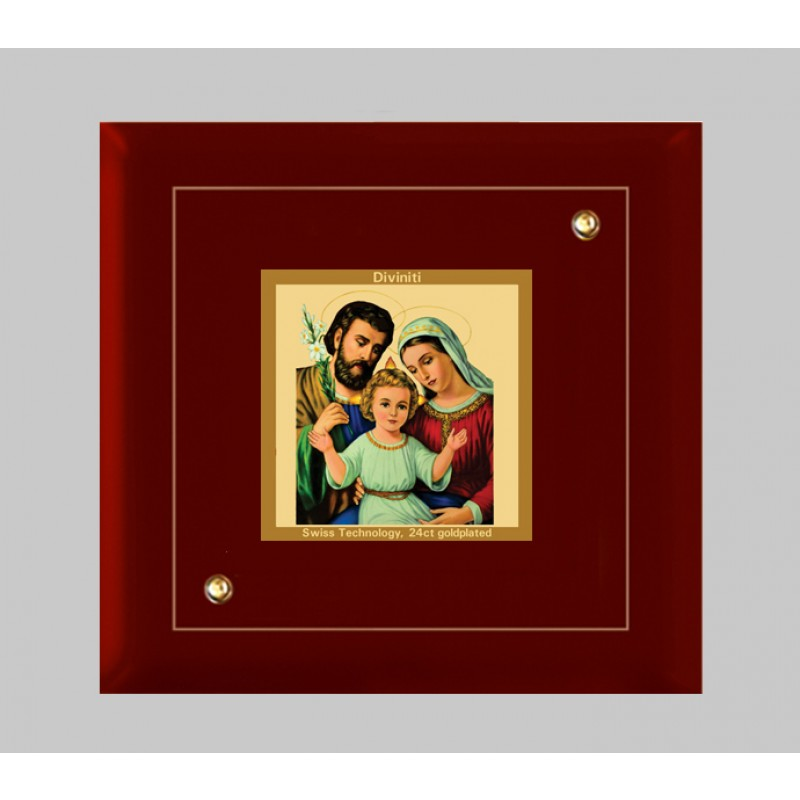 24K GOLD PLATED MDF FRAME SIZE 1A CLASSIC COLOR HOLY FAMILY