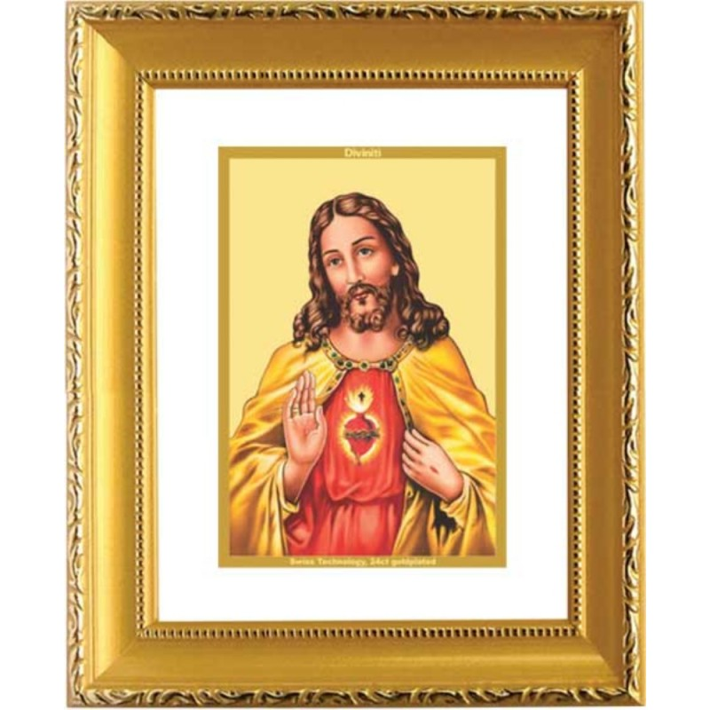 24K GOLD PLATED DG FRAME 101 SIZE 1 CLASSIC GOLD JESUS