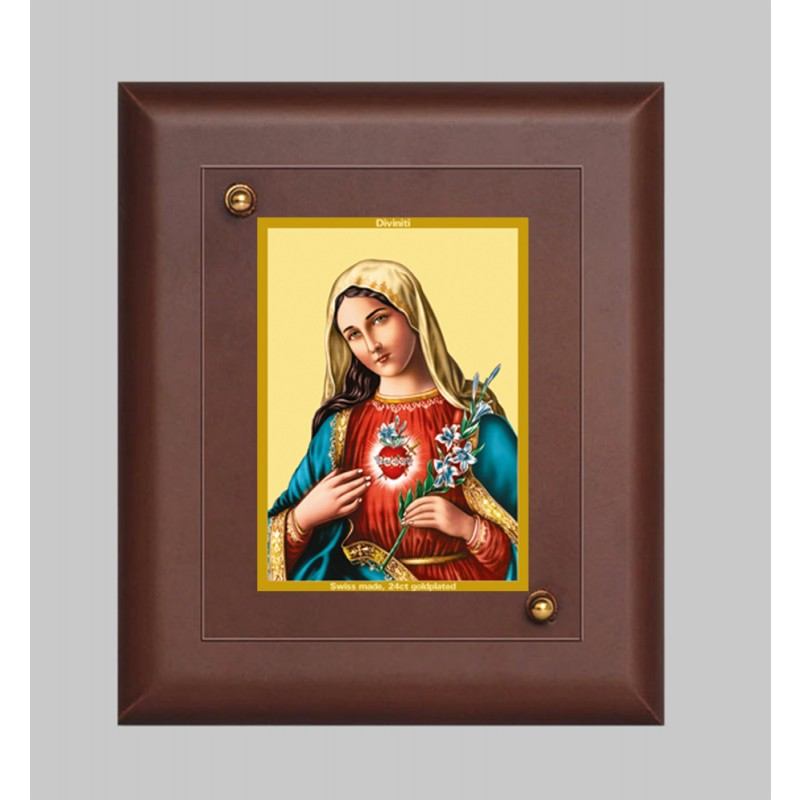 MDF FRAME SIZE 2 CLASSIC COLOR  RECTANGULAR MOTHER MARY