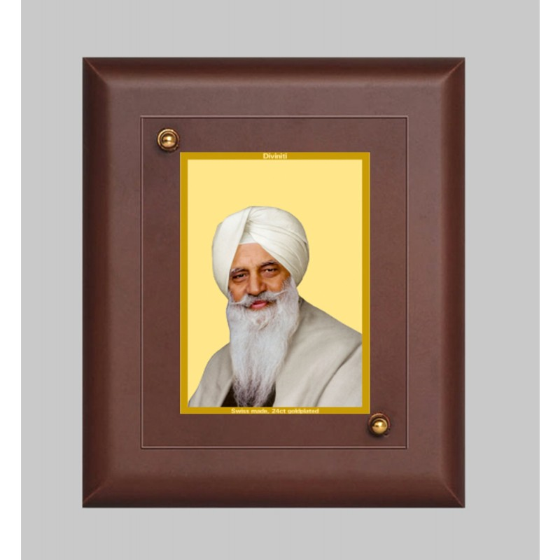 24K GOLD PLATED MDF FRAME SIZE 2 CLASSIC COLOR RADHA SWAMI