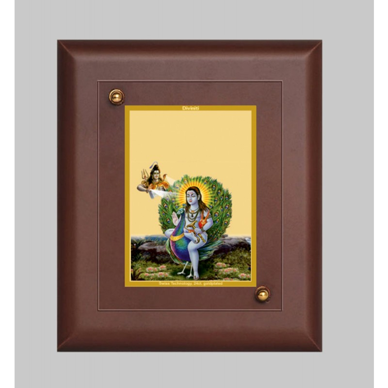 24K GOLD PLATED MDF FRAME SIZE 2 CLASSIC COLOR BABA BALAK NATH