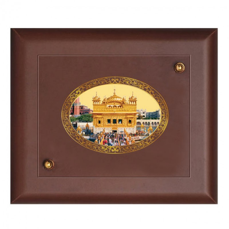 24K GOLD PLATED MDF FRAME SIZE 2 ROYALE COLOR GOLDEN TEMPLE