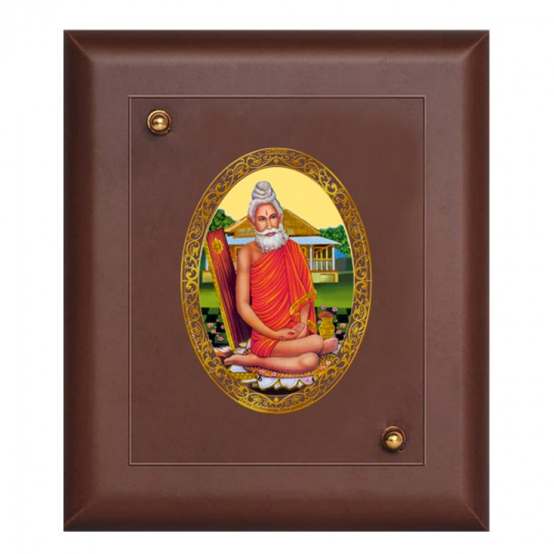 24K GOLD PLATED MDF FRAME SIZE 2 ROYALE COLOR BABA LOKNATH