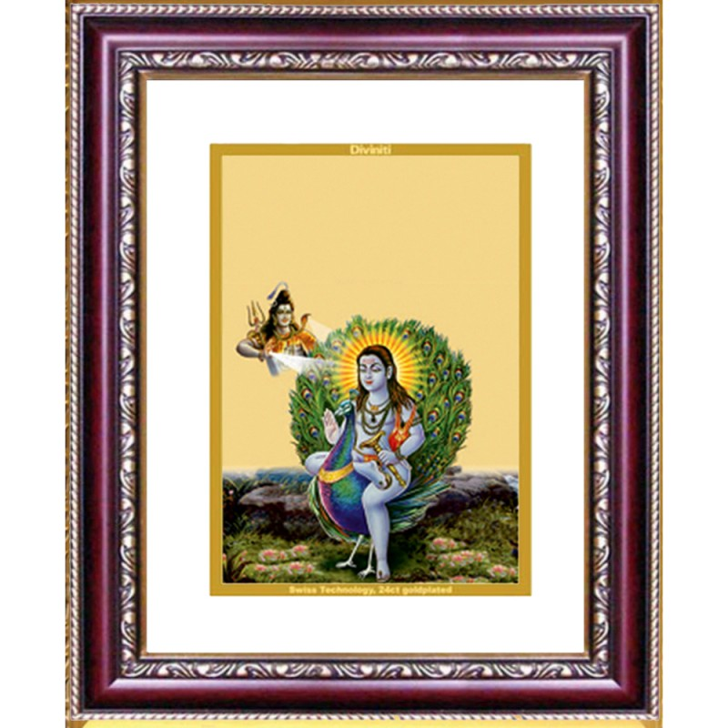 24K GOLD PLATED DG FRAME 105 SIZE 2 CLASSIC COLOR BABA BALAK NATH