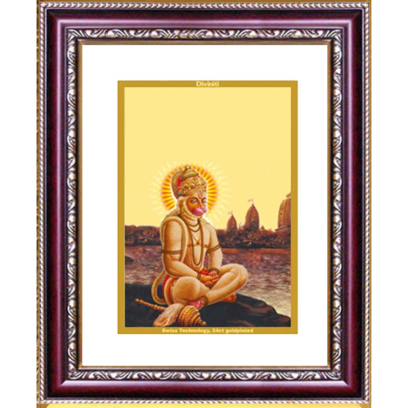 DG FRAME 105 SIZE 2 CLASSIC COLOR RECTANGULAR HANUMAN WITH PRAYER