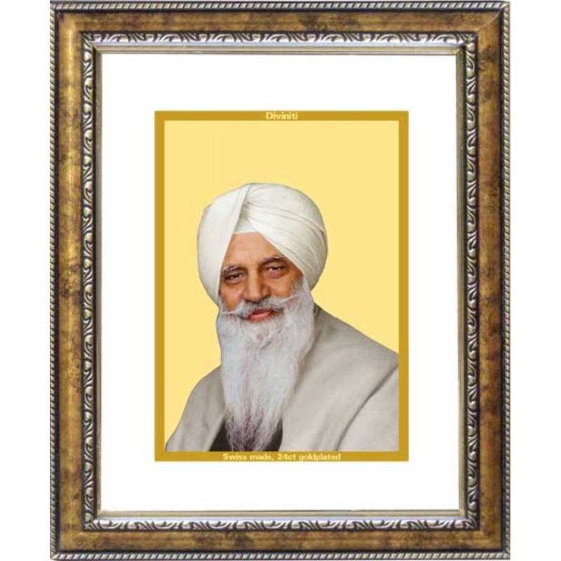 24K GOLD PLATED DG FRAME 113 SIZE 2 CLASSIC COLOR RADHA SWAMI