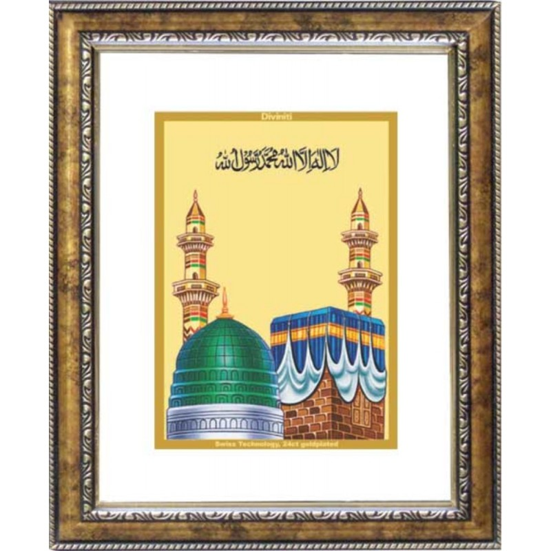 24K GOLD PLATED DG FRAME 113 SIZE 2 CLASSIC COLOR MACCA MADINA