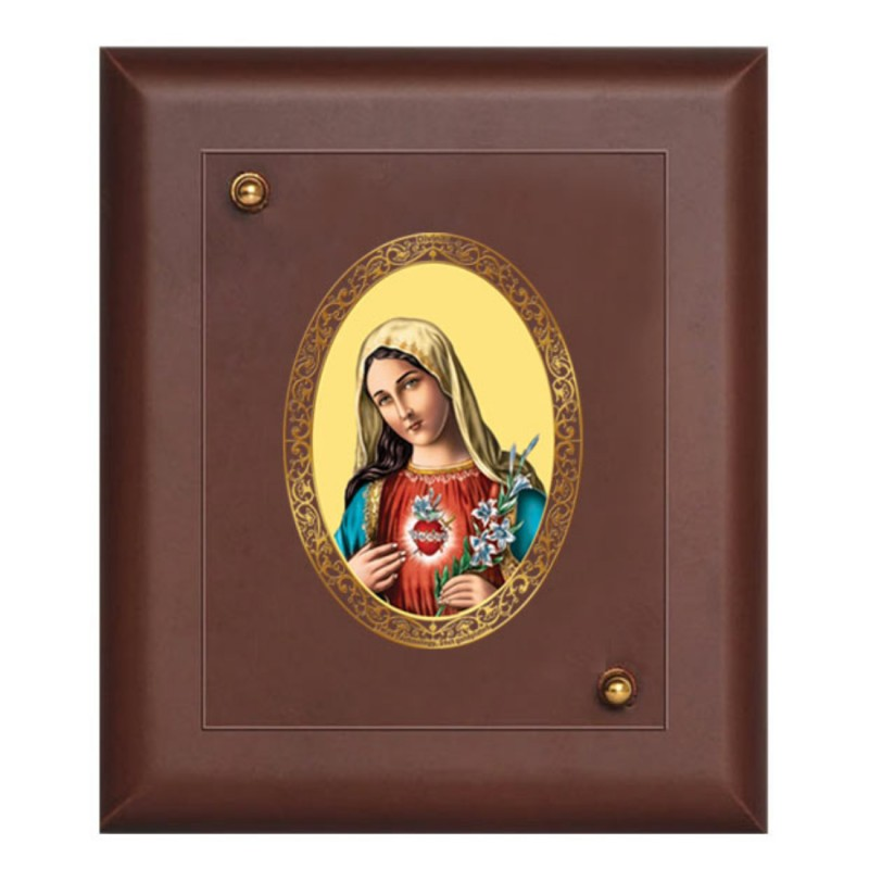 24K GOLD PLATED MDF FRAME SIZE 1 ROYALE COLOR MOTHER MARY