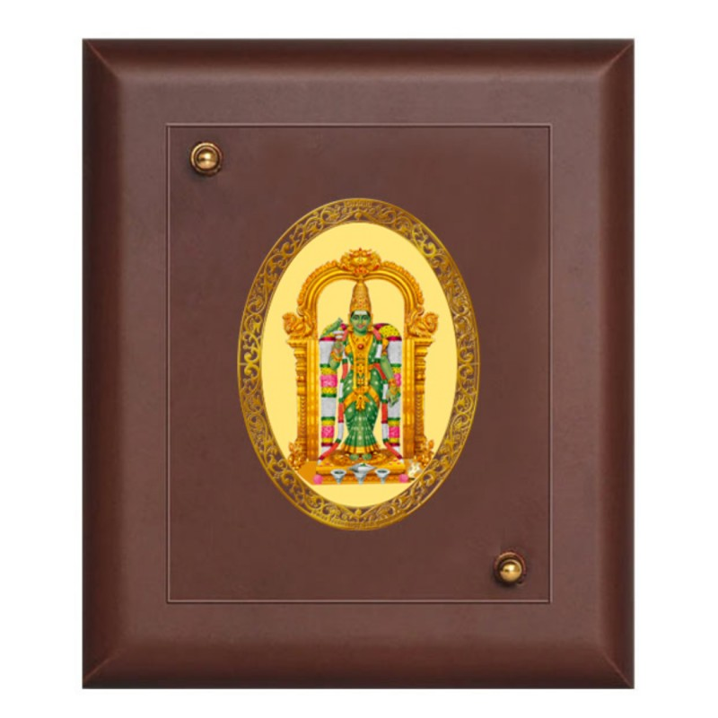 24K GOLD PLATED MDF FRAME SIZE 1 ROYALE COLOR MEENAKSHI AMMAN