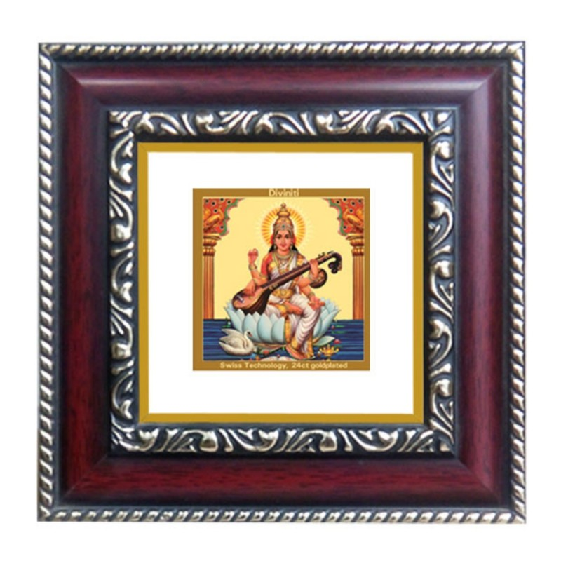 24K GOLD PLATED DG FRAME 105 SIZE 1A CLASSIC COLOR SARASWATI