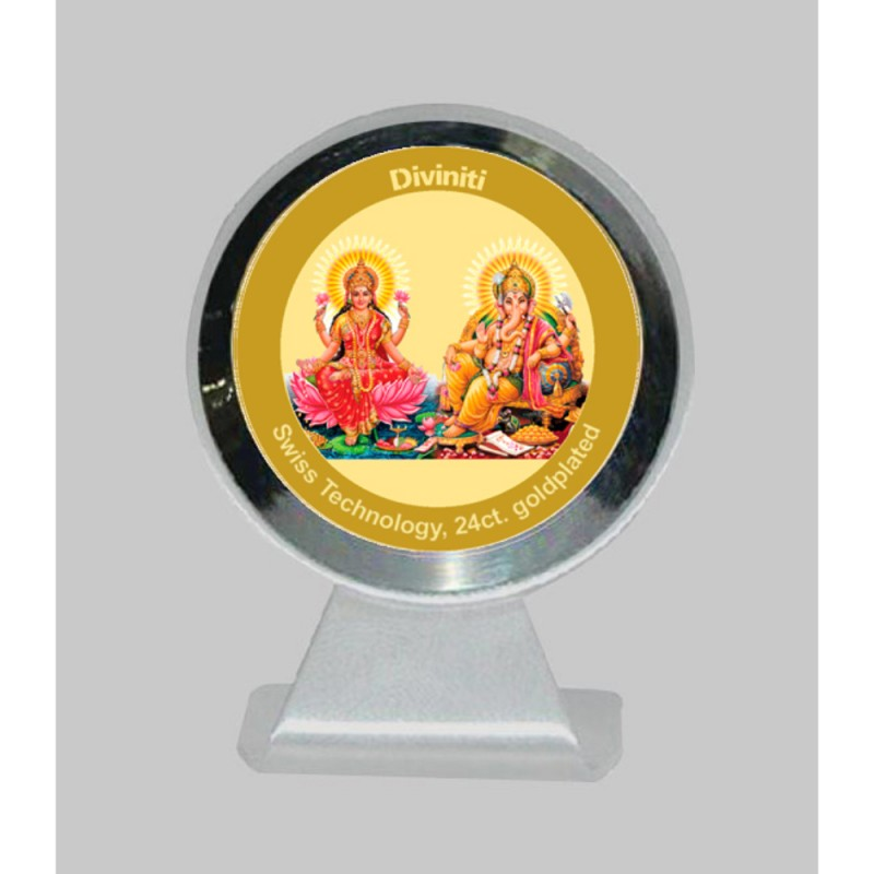 24K GOLD PLATED MCF 1CR CLASSIC COLOR LAKSHMI & GANESHA