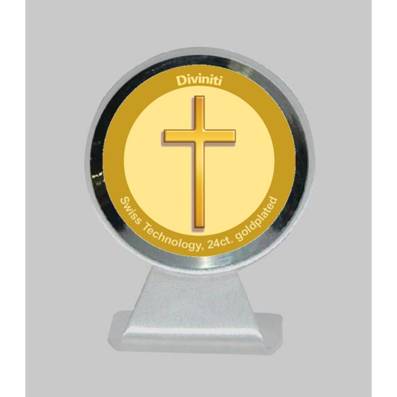 24K GOLD PLATED MCF 1CR CLASSIC COLOR HOLY CROSS