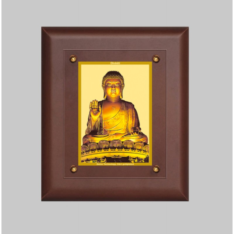 24K GOLD PLATED MDF FRAME SIZE 2.5 CLASSIC COLOR BUDDHA -1