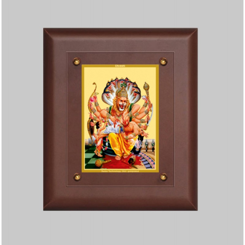 24K GOLD PLATED MDF FRAME SIZE 2.5 CLASSIC COLOR NARSIMHA