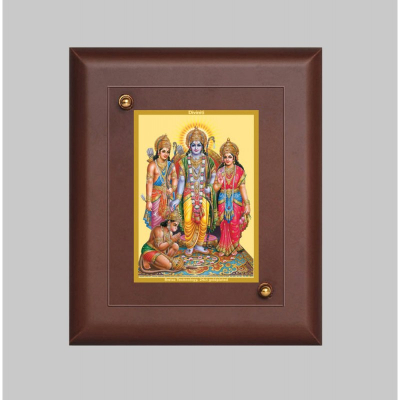 24K GOLD PLATED MDF FRAME SIZE 2.5 CLASSIC COLOR RAM DARBAR