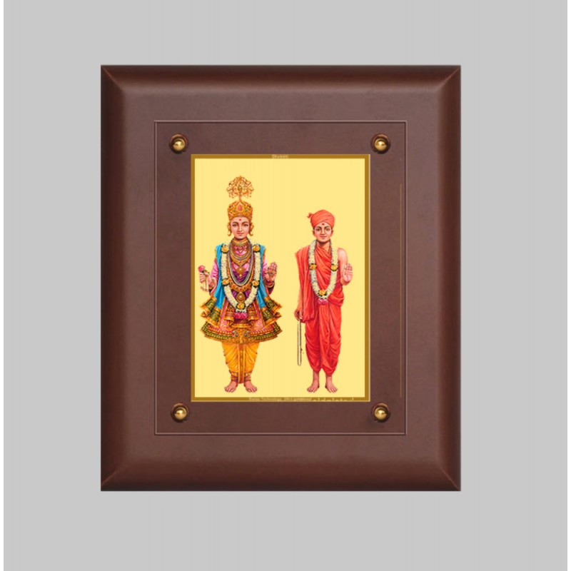 24K GOLD PLATED MDF FRAME SIZE 2.5 CLASSIC COLOR SWAMI NARAYAN