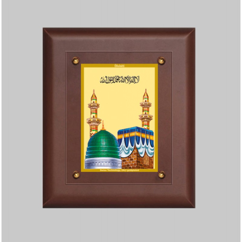 24K GOLD PLATED MDF FRAME SIZE 2.5 CLASSIC COLOR MACCA MADINA