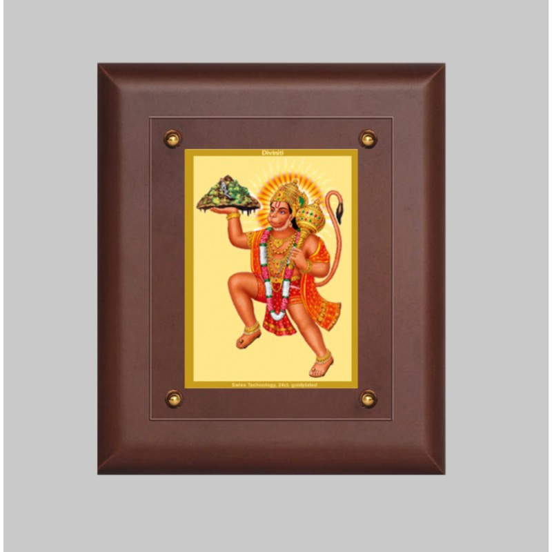 MDF FRAME SIZE 2.5 CLASSIC COLOR RECTANGULAR HANUMAN WITH MOUNTAIN