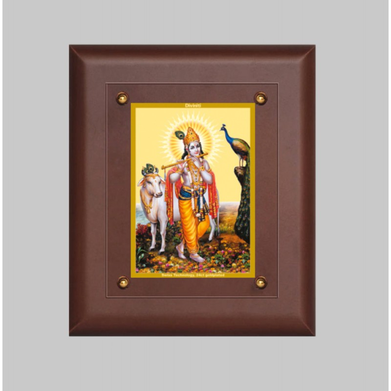 MDF FRAME SIZE 2.5 CLASSIC COLOR RECTANGULAR KRISHNA WITH COW