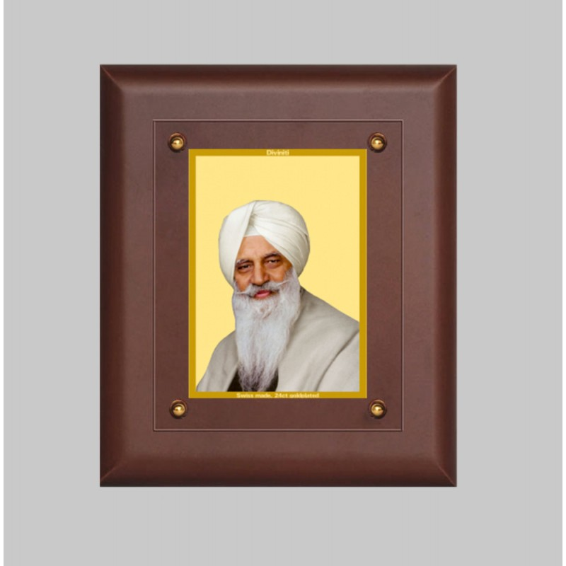 24K GOLD PLATED MDF FRAME SIZE 2.5 CLASSIC COLOR RADHA SWAMI