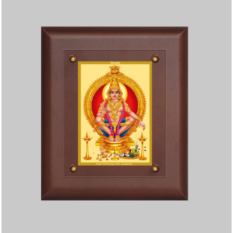 24K GOLD PLATED MDF FRAME SIZE 2.5 CLASSIC COLOR AYYAPAN