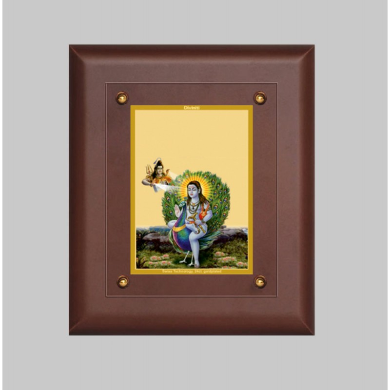 24K GOLD PLATED MDF FRAME SIZE 2.5 CLASSIC COLOR BABA BALAK NATH