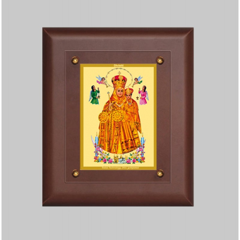 24K GOLD PLATED MDF FRAME SIZE 2.5 CLASSIC COLOR LADY OF HEALTH