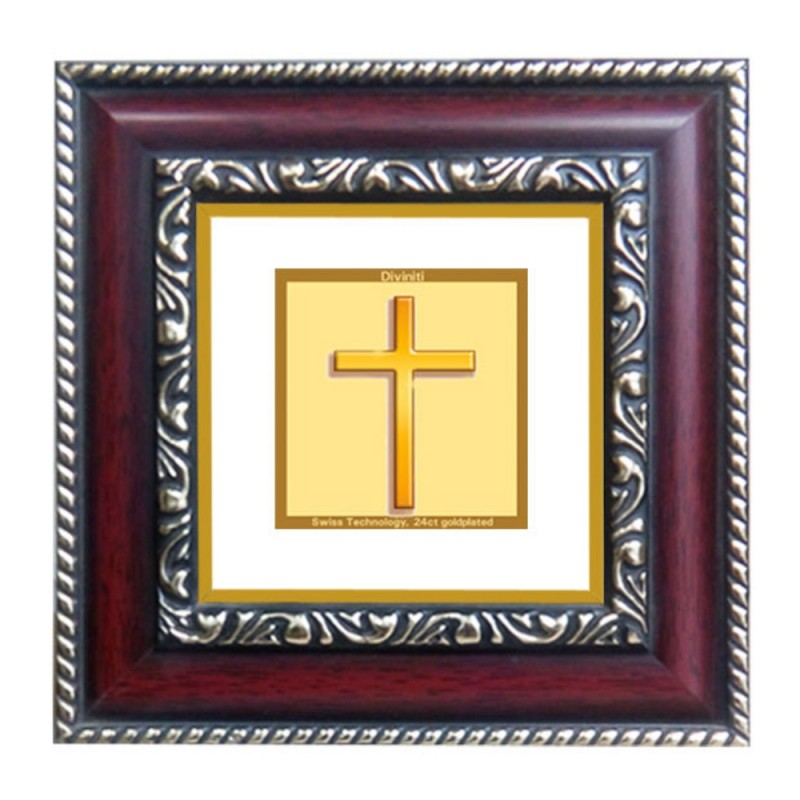24K GOLD PLATED DG FRAME 105 SIZE 1A CLASSIC COLOR HOLY CROSS