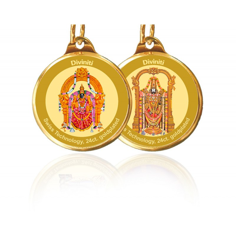 PENDANT DOUBLE SIDED SIZE 18MM PADMAWATI & BALAJI