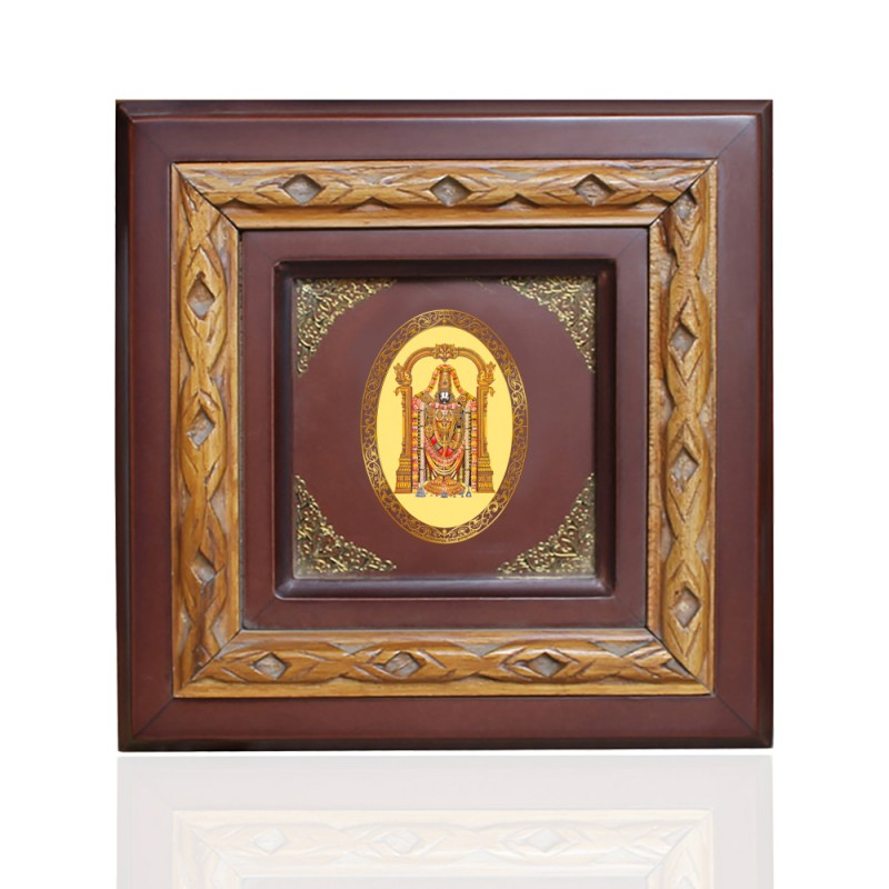 WOODEN FRAME SIZE 1D ROYALE COLOR   OVAL BALAJI
