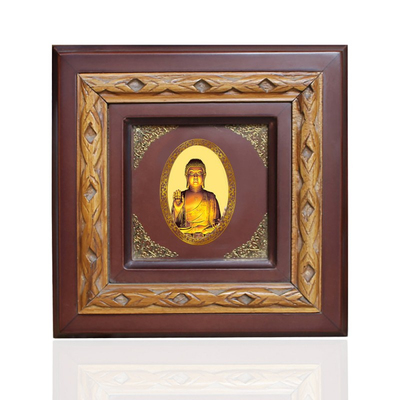 WOODEN FRAME SIZE 1D ROYALE COLOR   OVAL BUDDHA