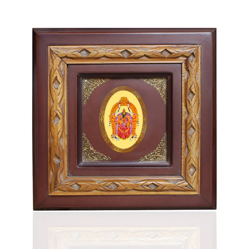 WOODEN FRAME SIZE 1D ROYALE COLOR   OVAL PADMAWATI