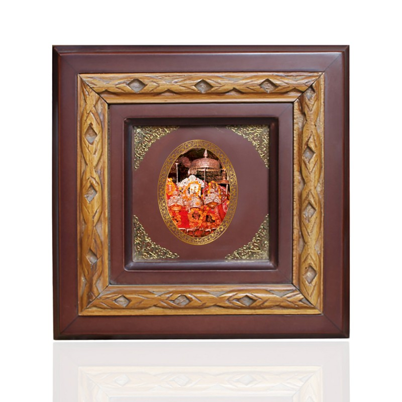 WOODEN FRAME SIZE 1D ROYALE COLOR   OVAL MATA KA DARBAR