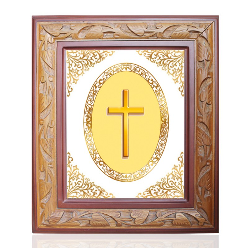 WOODEN FRAME SIZE 1 ROYALE COLOR   OVAL CROSS