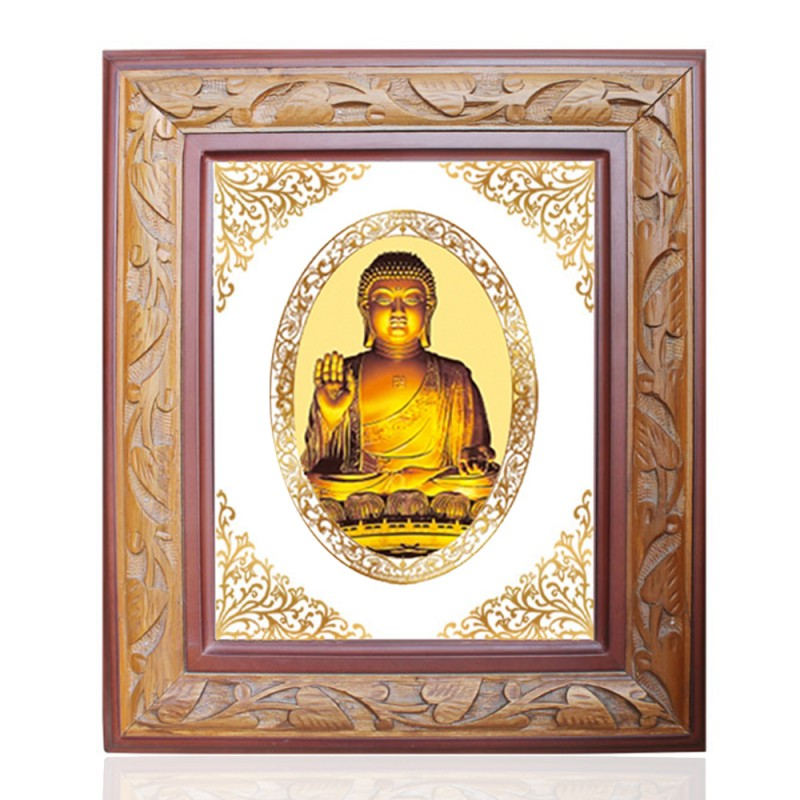 WOODEN FRAME SIZE 2 ROYALE COLOR   OVAL BUDDHA