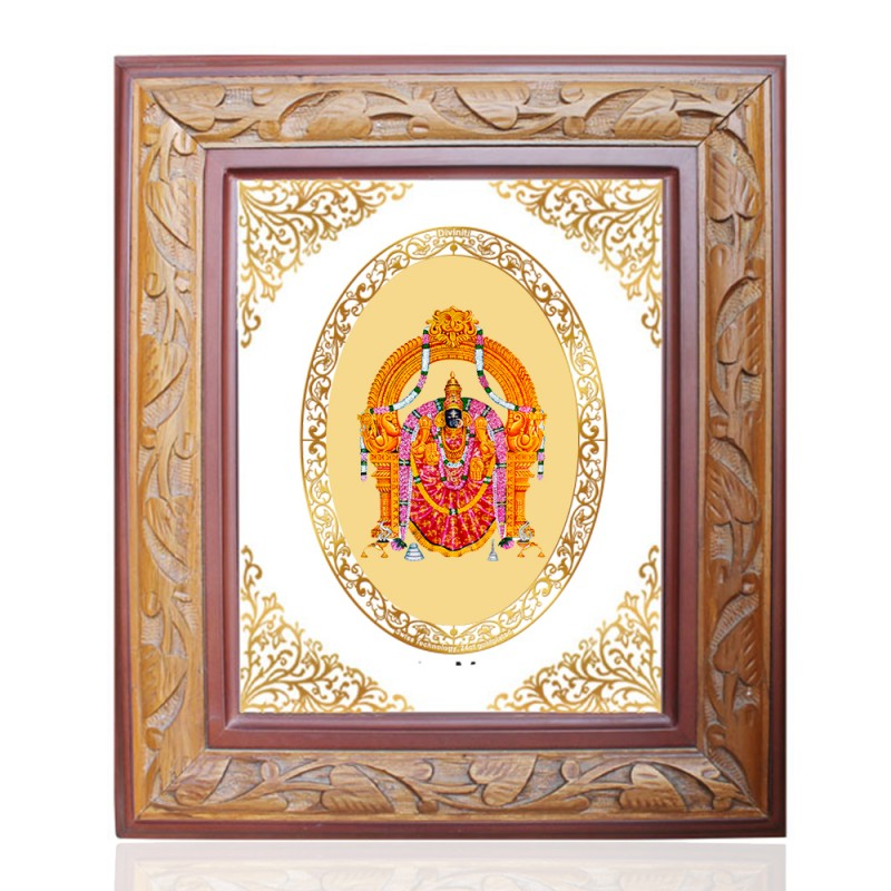WOODEN FRAME SIZE 2 ROYALE COLOR   OVAL PADMAWATI