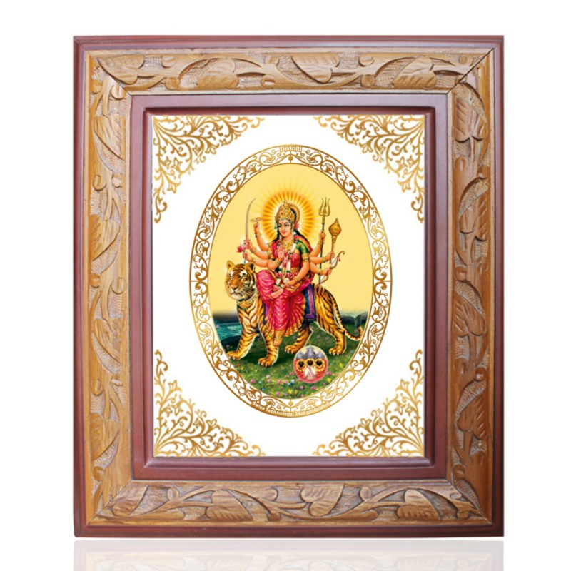 WOODEN FRAME SIZE 2.5 ROYALE COLOR   OVAL DURGA