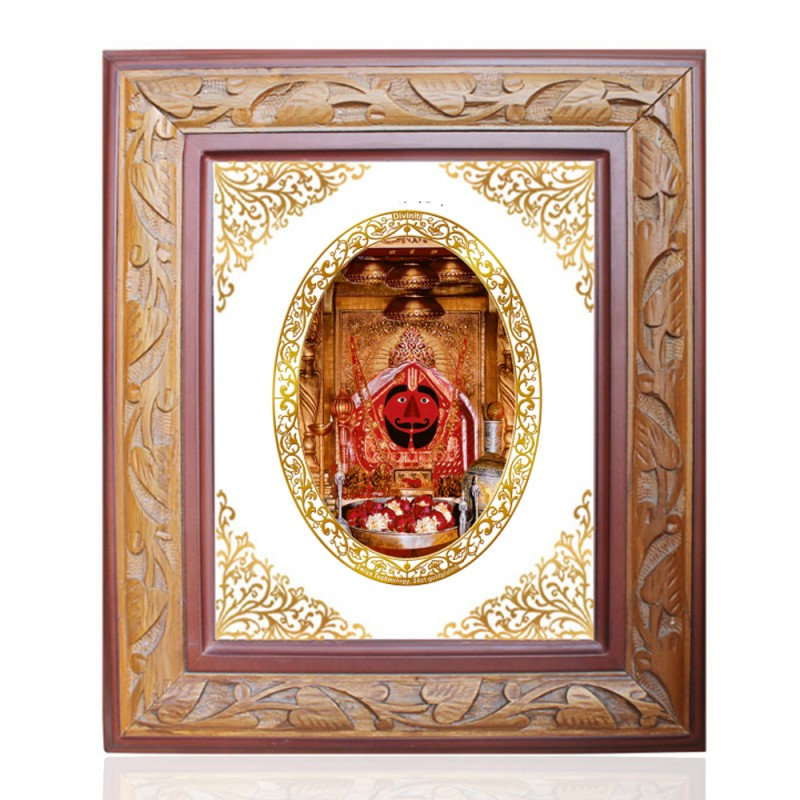 WOODEN FRAME SIZE 2.5 ROYALE COLOR   OVAL SALASAR BALAJI