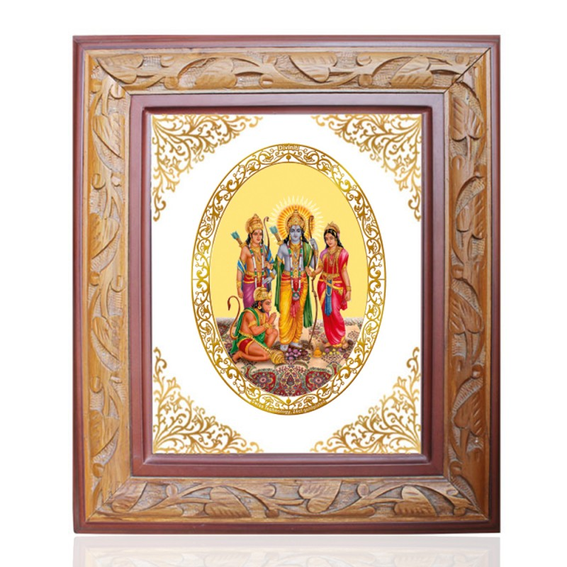 WOODEN FRAME SIZE 2.5 ROYALE COLOR   OVAL RAM DARBAR