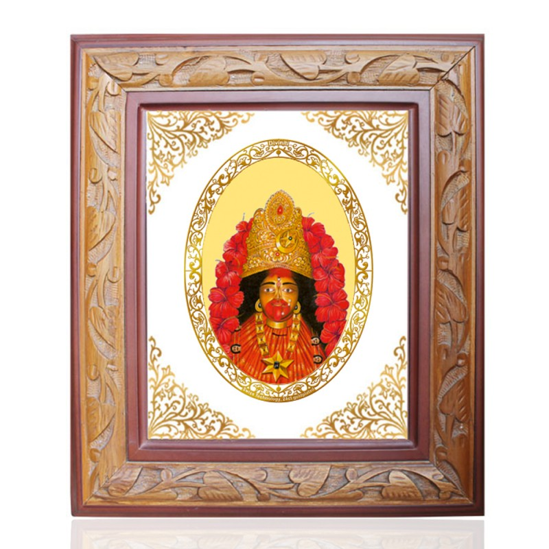 24K GOLD PLATED WOODEN FRAME SIZE 2.5 ROYALE COLOR MAA TARA