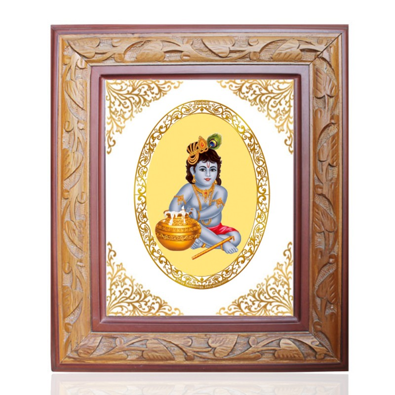 WOODEN FRAME SIZE 3 ROYALE COLOR   OVAL BAL GOPAL