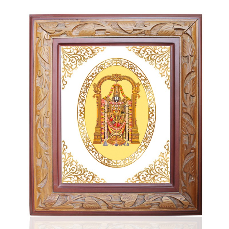 WOODEN FRAME SIZE 3 ROYALE COLOR   OVAL BALAJI