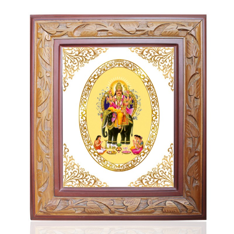 WOODEN FRAME SIZE 3 ROYALE COLOR   OVAL VISHVAKARMA