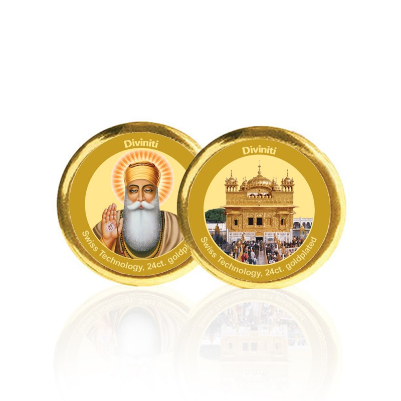 COIN DOUBLE SIDED SIZE 3C GURUNANAK & GOLDEN TEMPLE