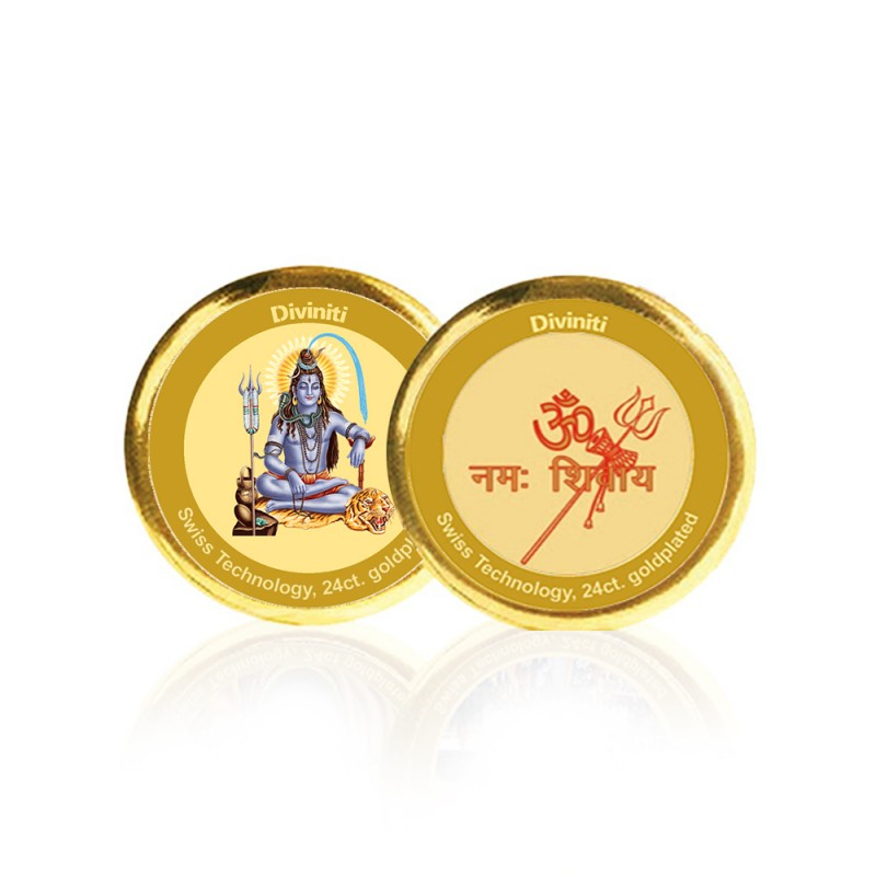 COIN DOUBLE SIDED SIZE 3C SHIVA & OM