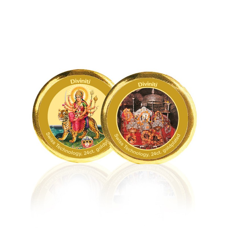 COIN DOUBLE SIDED SIZE 3C DURGA & MATA KA DARBAR NEW