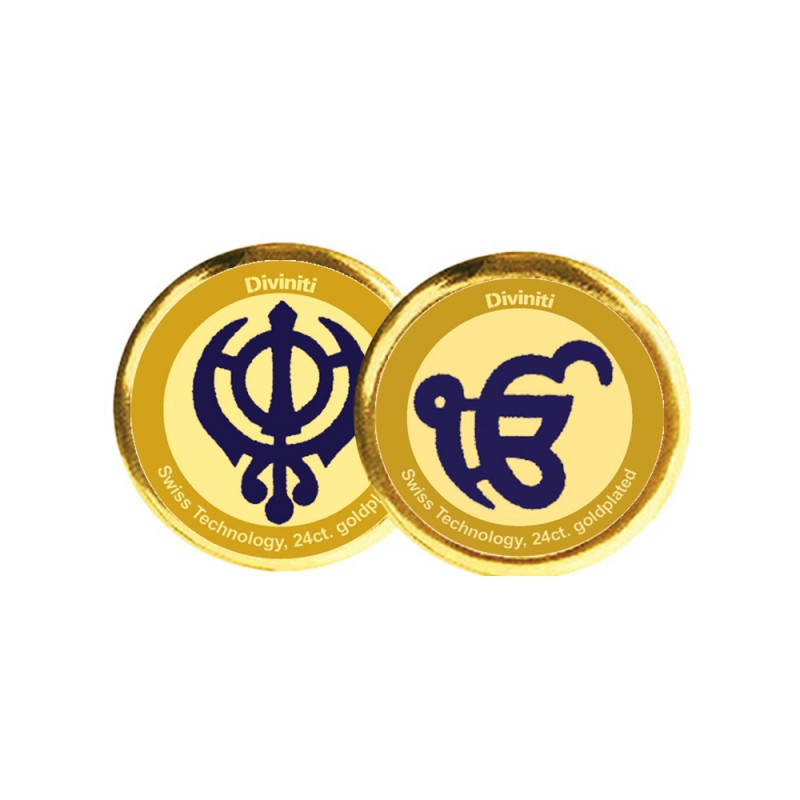 COIN DOUBLE SIDED SIZE 3C KHANDA SAHIB & EK OMKAR