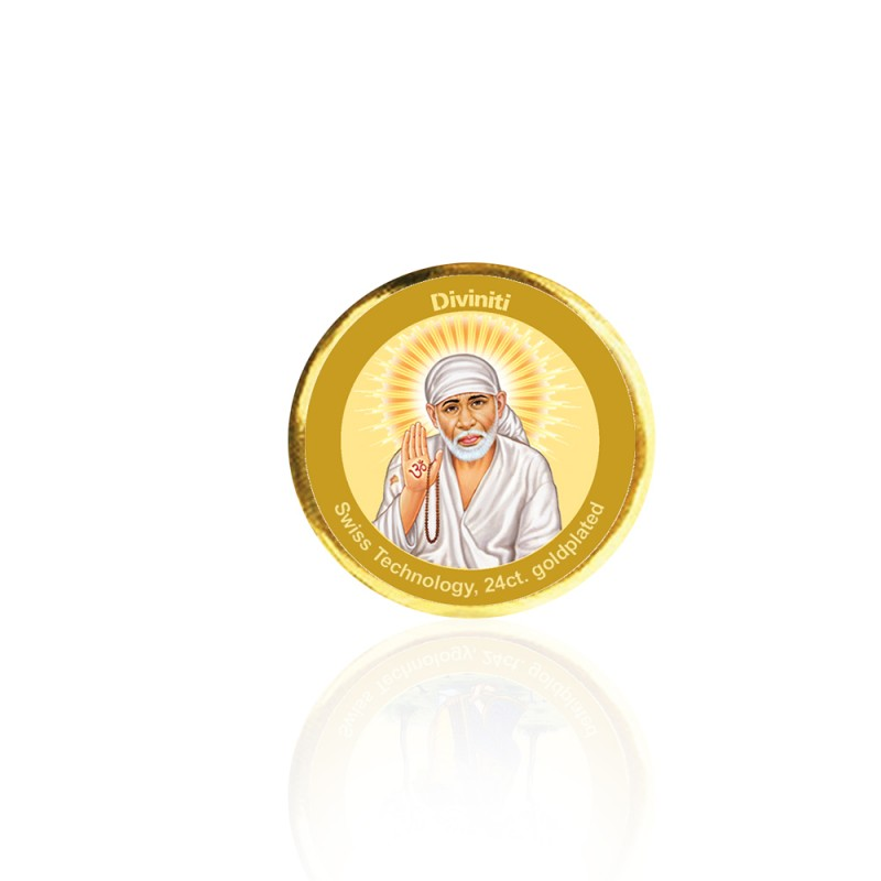 COIN SINGLE SIDED SIZE 3C SAI BABA CLOSEUP